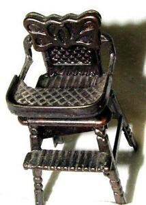retro high chairs babies frontgate lounge chair covers vintage ebay metal