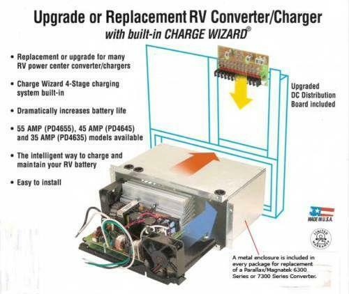 rockford fosgate wiring diagram b16a vtec solenoid 45 amp converter: rv, trailer & camper parts | ebay
