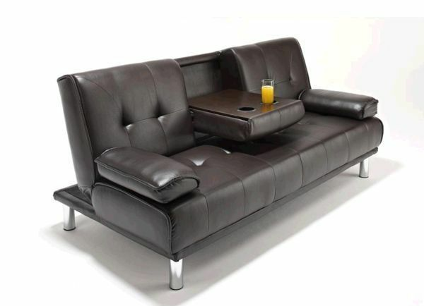 dfs recliner sofa bed cars flip with sleeping bag **cinema almost new 3 seater leather sleeper ...