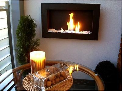 65 Gel and Ethanol Fireplace Black NEW