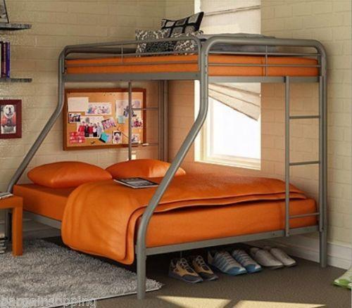 Twin Over Full Metal Bunk Bed Ebay