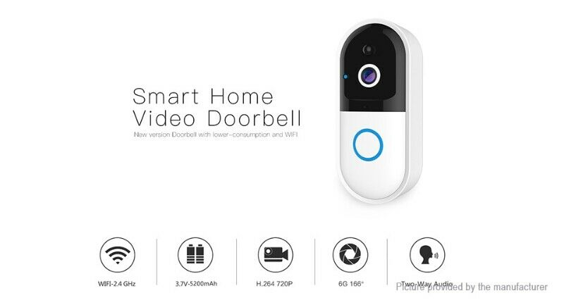 Wifi Door Bell with Video & Audio HD for Home/Office