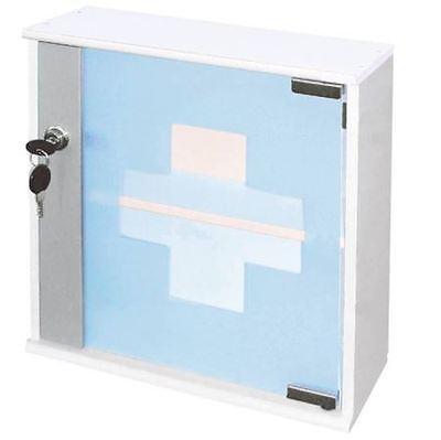 Glas Medizinschrank 29 cm - Medikamenten Schrank Arzneischrank Hausapotheke Holz