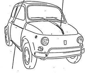 FIAT 500 SERIE MODANATURE 5PZ COFANO PORTE PARAFANGO
