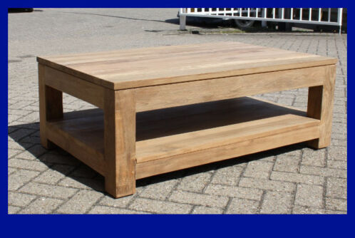 Teak salontafel met onderblad 110x70x40cm Indoteak