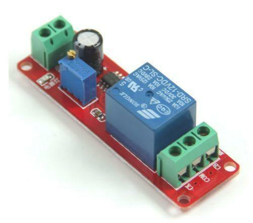 12 Volt Timer Relay Configurable Time Delay On Or Off This Timer