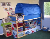 Childs Ikea Kura bed with stars canopy | in Linlithgow ...