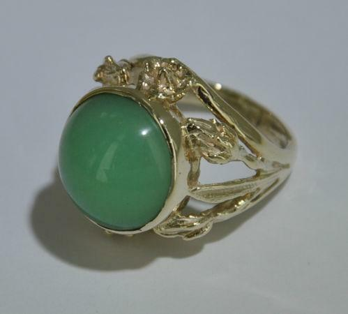 Gold Jade Ring  eBay
