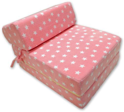 fold out chair bed kids canoe back memory foam z | ebay