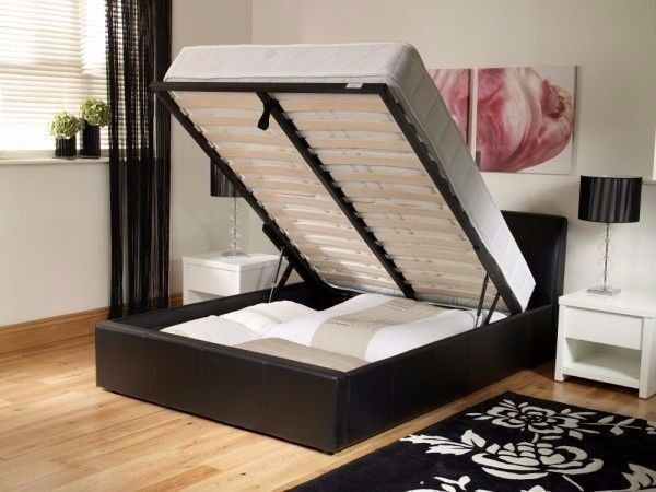Double Gas Lift Ottoman Storage Bed 139 With 13 Royal 1000 Pocket Sprung Mattress