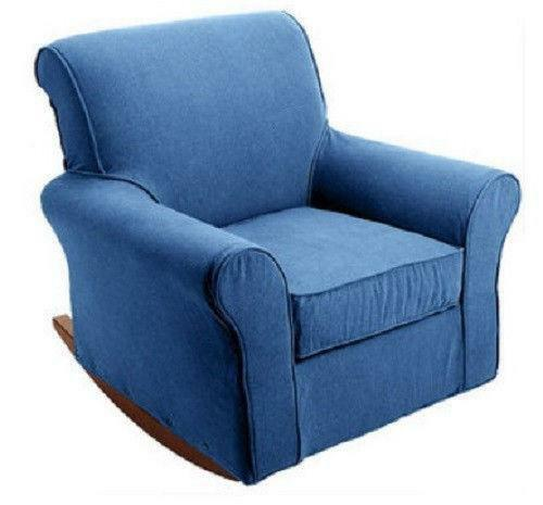 glider chair and ottoman replacement cushions turquoise wingback slipcover rocking slip covers | ebay