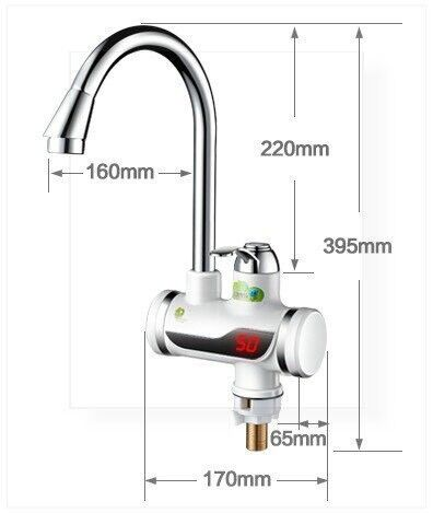 instant water heater kitchen sink taupe painted cabinets electric instantaneous tap hot faucet tankless