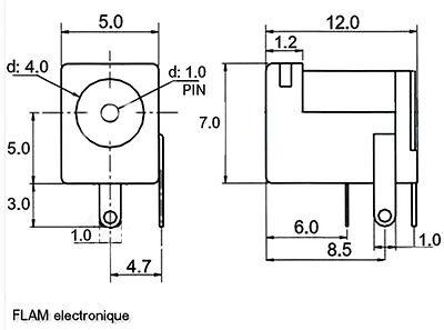 Connecteur à souder prise Jack femelle 4x1mm /Power supply