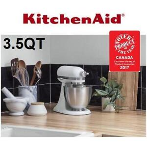 white kitchen aid scratch resistant sinks kitchenaid mixer kijiji in ontario buy sell save with new artisan 3 5q ksm3311xfw 223617738 mini series tilt head matte