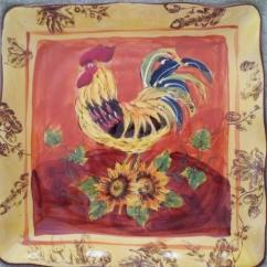 Rooster Decor Kitchen Quality Cabinets Decorative Plates | Ebay