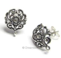 Sterling Silver Post Earring Findings | eBay
