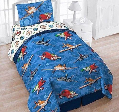 New Vintage Airplane Planes 9pc Baby Boy Crib Comforter