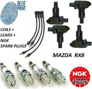 MAZDA RX8 IGNITION COILS & PLUG LEADS & NGK SPARK PLUGS