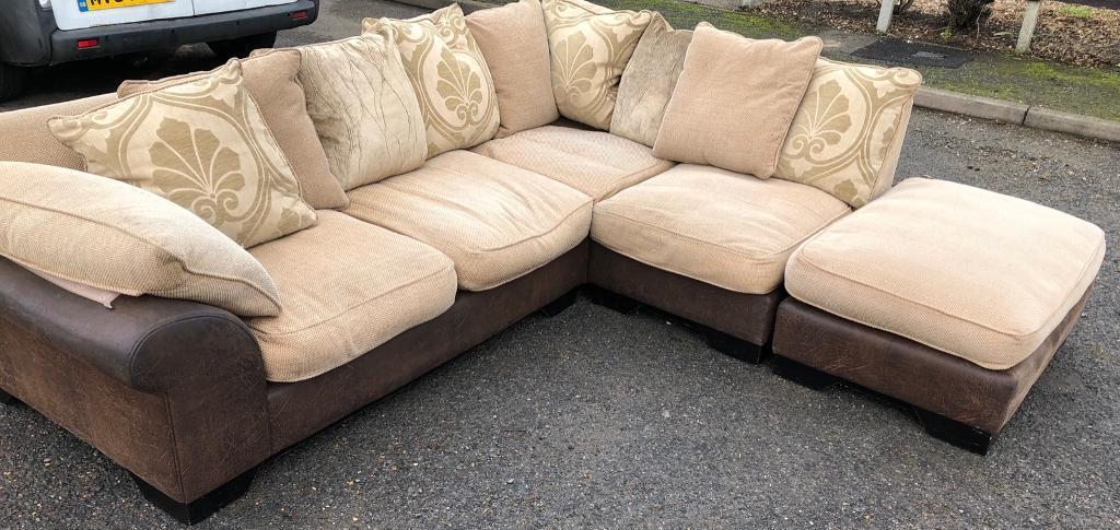 duck feather corner sofa discount reclining large dfs in chatham kent gumtree