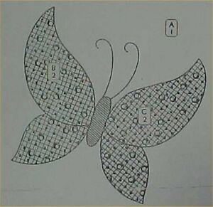 Vintage Quilt Pattern Mail Order Butterfly Block Design