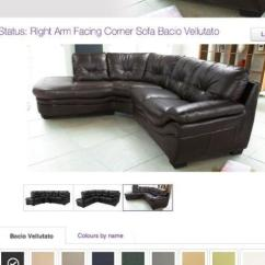 Corner Sofa Bed White Leather Compact Dark Brown | Ebay
