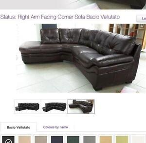 distressed leather corner sofa uk flip open walmart brown sofas ebay dark