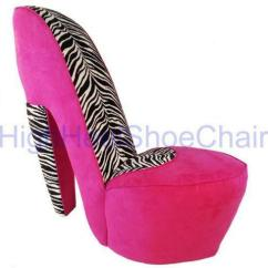 Pink High Heel Chair Kmart Outdoor Chairs Ebay