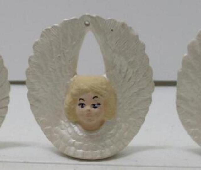 Vintage Set Of  Ceramic Angel Christmas Ornaments   Tall