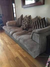 Large Cream Corduroy Sofa