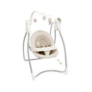 graco swing chair zebra wood desk swings bouncers ebay lovin hug