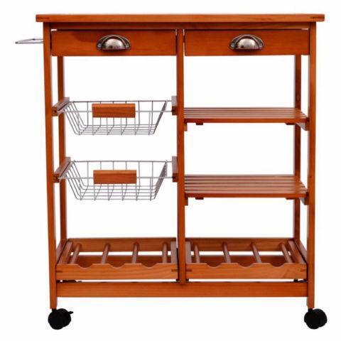 wooden kitchen cart appliances rolling trolley with wine rack dining wares city of toronto kijiji