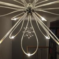 IKEA Onsjo chandelier ceiling light with chrome plated ...