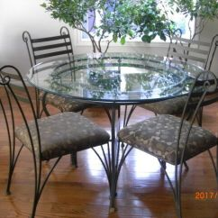 Kitchen Glass Table Tuscan Decor Dining Solid Cdn Made Iron Powder Coated Tables Sets Windsor Region Kijiji