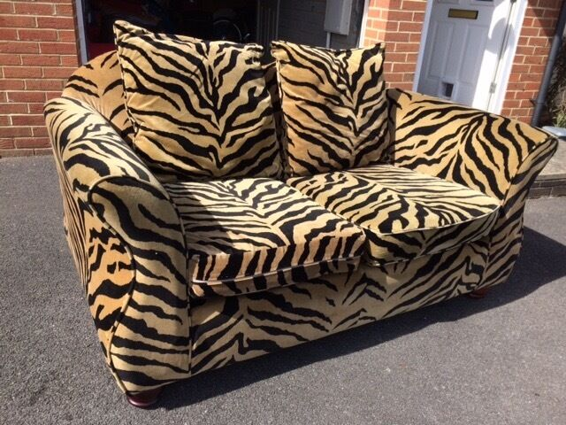 large chaise sofa dfs pillows for back tiger print animal leopard pillow case ...