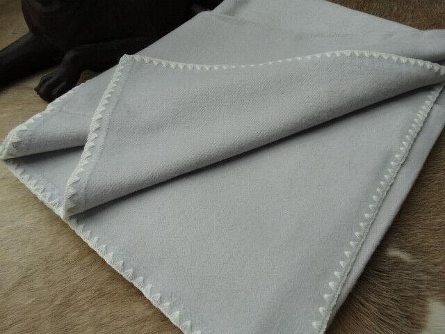 Wohndecke Baumwolldecke Plaid 150 x 205 cm 100% Baumwolle Kuscheldecke Grau