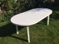 white plastic patio table | in Chineham, Hampshire | Gumtree