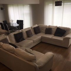U Shaped Sofa Leather Corner Bed Stunning Shape For Sale 12 Months Old Must Go Asap Collection Only