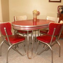 Kitchen Table And Chair Sets Postura Max Retro Set Dinette Dining Vintage Chrome Formica