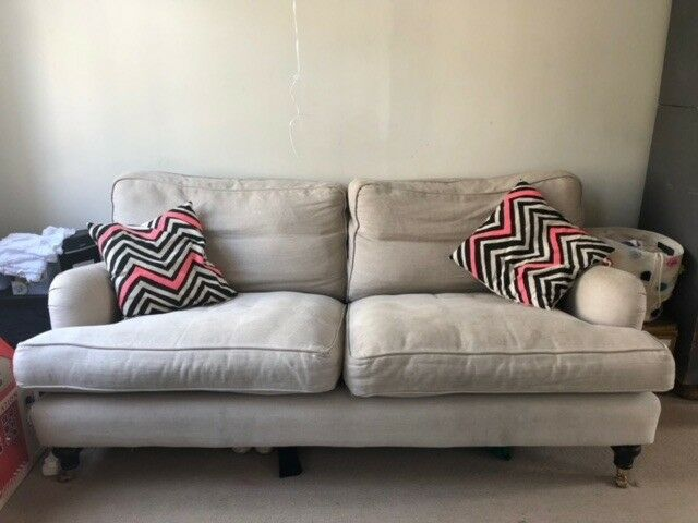 bluebell sofa gumtree voyager 2 5 seater brushed linen years old in notting hill