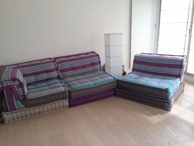 Mah Jong Sofa Set By Roche Bobois (2 Armless Chairs, 1