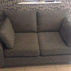 Grey Fabric Sofa Next Carolina Company Directory Two Seater Small Farrell Range In Darlington