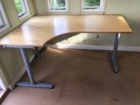 Office corner desk Ikea Galant with T legs - left hand ...