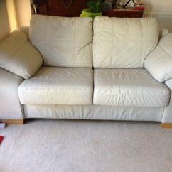 How To Clean A Cream Leather Sofa Animal Print Fabric 3 Seater With Scuffs In High Lane Manchester