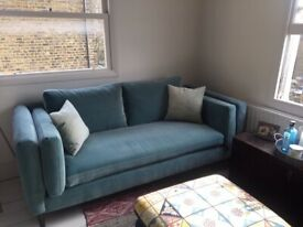 bluebell sofa gumtree cool for living room 2 5 seater in grey brown linen wandsworth immaculate sale