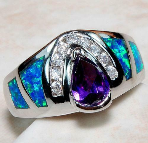 Sterling Silver Gemstone Rings Size 7 EBay