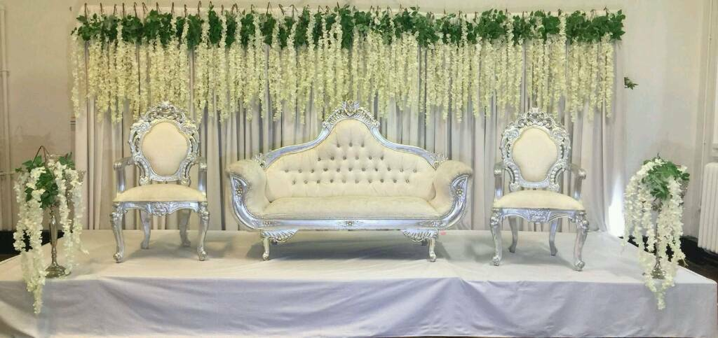 chair covers to hire liverpool recliner canada asian wedding stages floral mehndi house lighting for in oldham manchester gumtree