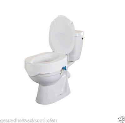 Toilettensitzerhöhung *REHOTEC* Toilettenaufsatz Toilettensitz, mit Deckel