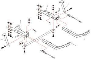 Roadmaster 162 2 XL Tow Bar Base Plate Bracket for Saturn