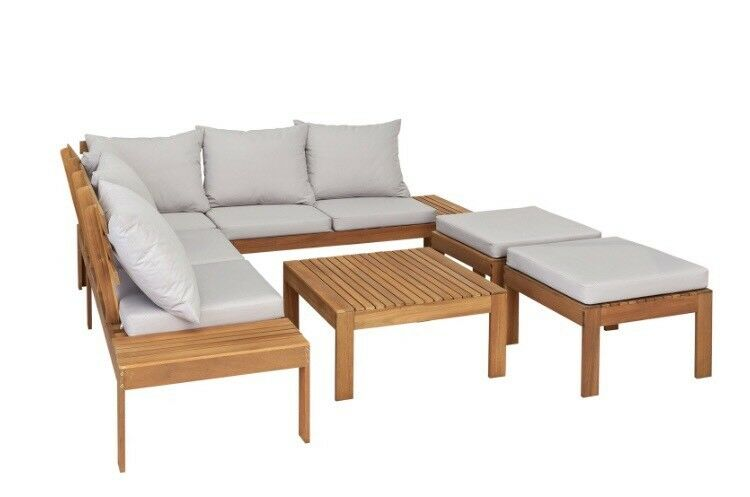 corner sofa outdoor furniture covers futon beds dublin argos 8 seater wooden set patio cover cushions table incl