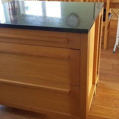 Oak Kitchen Islands Cabinet Hardware Ideas Island By M S With Granite Top 1000x800mm Sonoma Range 3 Drawers And Bookcase